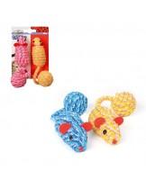 Camon -  Играчка за коте мишка с топка отсезал - 5 см. - различни цветове