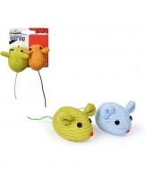 Camon -  Играчка за коте мишки - 7 см. - различни цветове - 2 броя