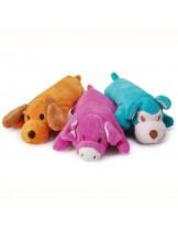 Camon - Играчка за куче - Плюшено куче с бутилка - различни цветове