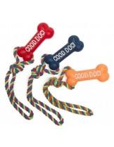 Camon - Играчка за куче - кокал винил с въже - 39 см.  - различни цветове