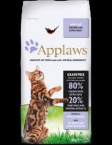 Applaws Adult Chicken with Extra Duck - пълноценна храна за израстнали котки над 12 месечна възраст с пилешко и патешко месо - 2 кг.