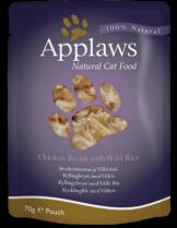 Applaws Chicken with Rice in Broth - високо качествен пауч за котки с пилешки гърди и див ориз - 70 гр.