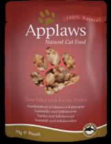 Applaws Tuna with Pacific Prawn in Broth - високо качествен пауч за котки с риба тон и скариди - 70 гр.