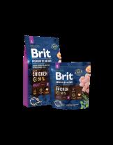 Brit Premium by Nature Adult S - Complete Chicken Formula - суха, гранулирана храна за кучета от мини породи (1-10 кг.) отнад 12 месеца с пилешко месо - 8 кг.