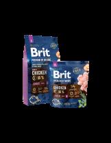 Brit Premium by Nature Junior S - Complete Chicken Formula - суха, гранулирана храна за кученца от мини породи (1-10 кг.) от 4 седмици до 12 месеца с пилешко месо - 8 кг.