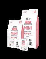 Brit Care Mini Grain Free Puppy - Хипоалергенна суха храна за малки кученца от дребните породи от 1 до 10 месеца с агнешко месо - 2 кг.