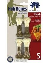 Blue Tree - Holi Bones - Неустоим кожен кокал с еленско месо, мoркови и тиква - 4 бр. Размер S