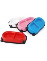 Camon - Двойна купа - пластик - 30х16.5 см. - синя, червена, розова, бяла