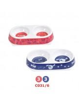 Camon - Двойна купа за домашни любимци - 450 мл. - червена, синя