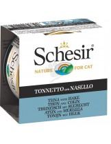 Schesir Agras Delic Schesir Nature Tuna with Hake - Високо качествена и неустоима храна за котки с риба тон и хек - 85 гр.