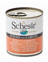 Schesir Agras Delic Schesir Nature Tuna with Carrots - Високо качествена и неустоима храна за кучета с риба тон и моркови - 285 гр.