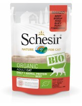 Schesir BIO Beef - био храна за котки над 1 година с говеждо месо - 85 гр.