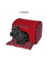 Camon Collapsible House - мека червена къщичка за  за домашни любимци с размери - 44x35x30h см.