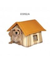 Camon Cotton House - мека светло кафява къщичка за домашни любимци с размери - 45x35x35h см.