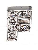 """Camon - Декоративна буква  """"F"""" - с брилянти за поводи и нашийници - 2 см. - бяло, розово, синьо"""