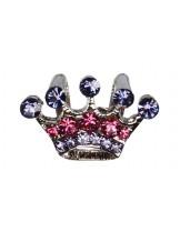 Camon - Декоративно бижу - корона с брилянти за поводи и нашийници - 2 см.