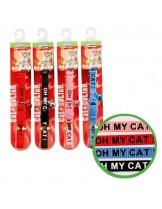 Camon - Writing - Текстилен нашийник за коте - различни цветове - 10х300 mm.