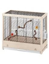 Ferplast - GIULIETTA 4 - дървена клетка за екзотични птици 57х30х50 см.