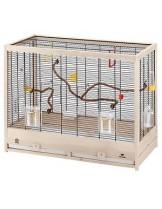 Ferplast - GIULIETTA 6 - дървена клетка за екзотични птици 81х41х64 см.