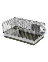 Ferplast - CAGE KROLIK LARGE GREEN - клетка за гризачи - декоративни зайчета и морски свинчета - 100х60х50 см. - зелено/сиво