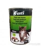 FESTI Kitten - консерва за подрастващи котки до 1 година с пилешко месо - 400 гр.