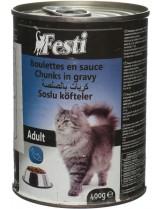 FESTI adult cat fish - консерва за котки nad 1 година с риба - 400 гр.