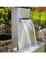 FIAP premium design Wall 800 - Декоративен водопад (водна стена) от неръждаема стомана за директна инсталация или вграждане - 60 см.
