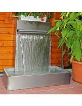 FIAP premium design Wall 1000 - Декоративен водопад (водна стена) от неръждаема стомана за директна инсталация или вграждане - 100 см.