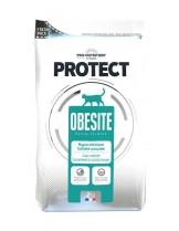 Flatazor Pro-Nutrition Protect Obesite - Пълноценна, диетична, протеинна (69%), храна за котки с наднормено тегло  над 1 година с патица, пиле, свинско и пуйка - 2 кг.