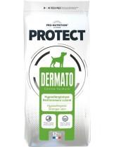 Flatazor Pro-Nutrition Protect Dermato - Пълноценна, високо протеинна (65%), диетична храна за кучета с дерматологични нарушения и кожни проблеми над 1 година с патешко месо - 12 кг.