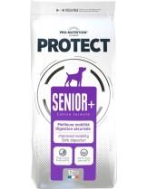 Flatazor Pro-Nutrition Protect Senior+ - Пълноценна, протеинна (69%), диетична храна за кучета над 7 години за одобрена подвижност, надеждно храносмилане с пилешко, пуешко и патешко месо - 12 кг.