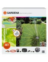 Gardena AquaContour - Kомплект с изскачащ разпръсквач за напояване за напояване за напояане на големи площи