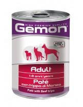 Monge Gemon Paté with Beef Tripe – Adult - консерва за кучета над 1 година с телешко шкембе - пастет - 0.400 кг.