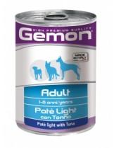 Monge Gemon Paté with Tuna – Adult Light - консерва за кучета над 1 година с риба тон - пастет - 0.400 кг.
