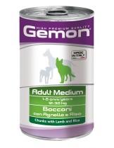 Monge Gemon Chunks with Lamb and Rice – Adult Medium - консерва за кучета над 1 година с агне и ориз - 1.250 кг.