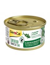 GimCat uperfood ShinyCat Duo - Консерви за котки - риба тон с тиквички - 70 гр.