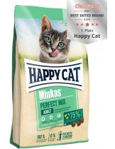 HAPPY CAT - Minkas Perfect Mix - Пълноценна храна за котки над 12 месеца с пилешко, говеждо и риба - 10 кг.