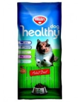 Visan Healthy Dog Adult Beef - суха храна за кучета над 1 година с телешко месо и пчелно млечице - 15 кг.