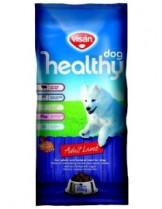 Visan Healthy Dog Adult Lamb - суха храна за кучета над 1 година с агнешко месо и пчелно млечице - 15 кг.