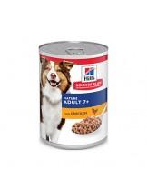 Hill's - Science Plan™ Canine Mature Adult 7+ Savoury Chicken - високо качествена консерва за кучета от всички породи над 7 години (консерва с пиле) - 370 гр.