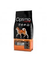 Visan Optima Nova Adult Sensitive Salmon Potato (GRAIN FREE) - суха храна за кучета от всички породи склонни към алергии, на възраст над 12 месеца без глутен със сьомга и картофи - 12 кг.