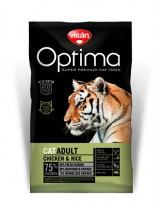 Visan Optima Cat Adult Chicken & Rise - супер премиум храна с чисто пилешко месо и ориз за котки над 1 година - 2 кг.