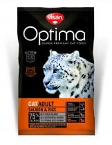 Visan Optima Cat Adult Salmon & Rise (GRAIN FREE) - супер премиум храна със сьомга и ориз за котки над 1 година - 2 кг.