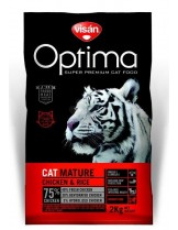 Visan Optima Cat Adult Mature Chicken & Rise (GRAIN FREE) - супер премиум храна с пиле и ориз за котки над 8 година - 2 кг.