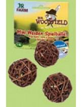 JR Farm - Специалитет, лакомство - Мини ябълково топче увито с върба за гризачи - 3 бр.