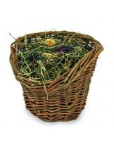 JR Farm - Лакомство - Върбова кошница със сено за гризачи - 120 гр.