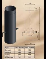 Димоотводна тръба с ревизионен отвор и клапа DTD 150/500
