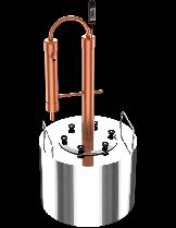 """Казан за ракия """"Интелигент"""" с медна кула - за домашно производство на ракия  - резервоар - 10 л."""