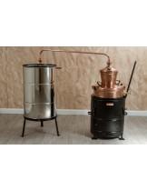 """Казан за ракия """"Рила"""" с печка на дърва (обръщащ) - за домашно производство на ракия  - резервоар - 100 л."""