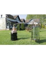 """Казан за ракия """"Традиция"""" с бъркалка и печка на дърва - за домашно производство на ракия  - резервоар - 60 л."""